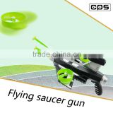 Cooling plastic flying disc shooting gun toy for boys
