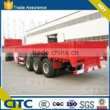 3 axle drop deck trailer with side wall detachable for cargo bulk goods transportation