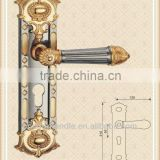 Door handle cover plates of antique reproduction shed door hardware