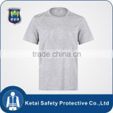Cotton Gray round neck mens t shirts with custom logo                                                                                                         Supplier's Choice