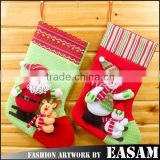 China factory sale 28*45cm candy gift packaging knit christmas stockings