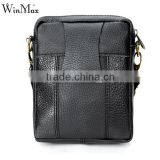 Real Leather High Quality Men Black Shoulder Crossbody Messenger Bag