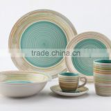 16pc stoneware hand painted dinnerset service for 4/ AB grade/2016 new design/90cc cup&sacuer