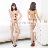 Sexy One Piece Bow Accents Fishnet Bodystocking Shoulder Straps Lingerie                                                                         Quality Choice                                                     Most Popular