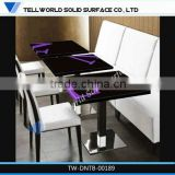 2016 newest design marble stone dinning furniture,dinning table set with LOGO on the top