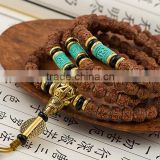 8mm Tibetan Buddhism 108 Five-petal Vajra Bodhi Prayer Bead Mala Necklace Bracelet