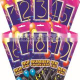 Numeral sparkling candles fireworks or number sparklers fireworks 2015 new products for sale
