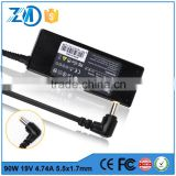 China supplier magnetic charger with laptop charger parts for Acer 19V 4.74A 5.5*1.7 universal ac dc adapter