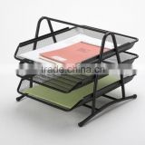 B82001 best seller high quality office stationery desk organizer 3 tier metal mesh file tray