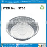 Item no 3700 aluminum foil 7 inch round tray with lid foil container for food and bakery confectionery package