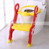 Children potty trainer plastic portable toilet seat/kids step toilet seat