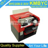 high popular large format UV printer direct to phone cases pens golf balls wood glass key chains USB printing machine