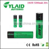 rechargeable lithium ion battery Cylaid 3.7v rechargeable 18650 3200mah 20A button cell cr18650 battery