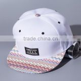 Newest Design Trucker Hats Custom Blank white black sports Fashional Flat Brim Snapback Caps