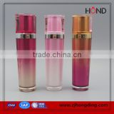 wholesale double color gradient color brand name face cream wholesale triangle make up bottle/cosmetic bottle