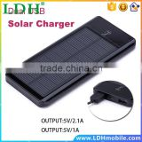 12000mAh Solar Power Bank Dual USB Backup External Charging Battery Charger for iPhone Samsung HTC Huawei Xiaomi Cell Phones