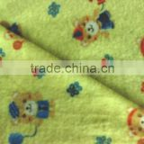 100% cotton fabric printing brushed tiger fleece fabric