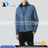 Daijun oem new deisign best quality nylon classic man blue city sport plain jackets men 2016