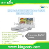 2015 New arrival factory direct selling recorder 4ch multi-mode connection 10.1 inch lcd ahd h.264 network dvr HK-AHD1004M