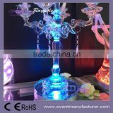 China goods wholesale party wedding favor 15cm 6inch round battery operated 16 color changing under vase base acrylic bottle lig