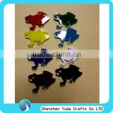 China wholesale acrylic color frog shape plastic laser cutting services