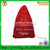 Wholesale christmas nylon gift bags drawstring canvas santa sack