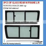 hiace side window side glass for toyota body part toyota glass 000167 3pcs of glass rear with frame for hiace