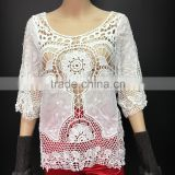 2016 Women Top Spring Summer Fashion Crochet Lace Tops Hollow Out Ladies Crop Tops