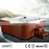 New Arrival 5 Person Square 2 Lounger 61 Jets Acrylic Luxury Bubble Spa Bath JY8012