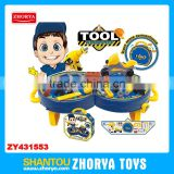 Zhorya Wholesale 2 in 1 multi-function baby toys modern handling box tool play toy set tool workshop table play sets