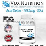 Acai Berry Detox 1532 mg Supplement, 30 count - Private Label Acai Berry Detox Supplement