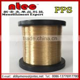 PPS monofilament yarn for expandable braided sleeving