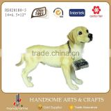 14.5 Inch Resin Craft Outdoor Labrador House Dog Figurines Home Decoration Animal Sculpture