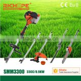 33cc 4 in 1 brush cutter multi-function for farm tractor use