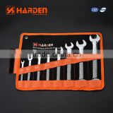 8 pcs double open -end spanner set labor saving wrench combination ratchet spanner