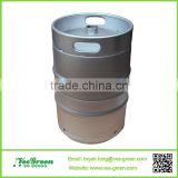 US 1/4 Stainless Steel Beer Barrel/one-quarter beer keg with valve/slim keg