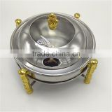 Hot sale Round gold Stainless Steel Buffet Chaffing Dish