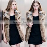 Female autumn and winter imitation raccoon fur fur vest vest faux fur vest