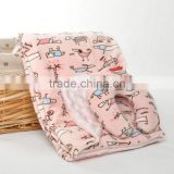 Luxury Baby Travel Neck Pillow Fleece Blanket Set