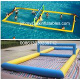 lake inflatable water sport arena,float,floating aqua volleyball field,inflatable water volleyball pitch for sale