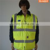 High Visibility Waterproof Safety Yellow Reflective Jacket