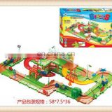 Hot sale kids electric train toy, plastic toy train tracks