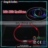 Party supply 69cm red led flashing christmas light necklace