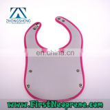 ECO- Friendly 3mm Thick Neoprene Baby Bib Can Customize Any Pattern Printing