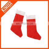 Polyester fleece plain christmas stocking