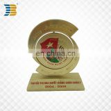 high quality custom gold plating trophy with pedestal