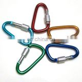 2015 novelty bulk spring snap carabiner hook with eyelet and screw wholesale