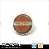 Elegant Fashion Copper covered logo shank button,sewing ABS coat Polyester button decorated manufacturer
