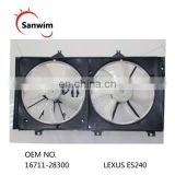 Brand New Radiator Or Condenser Cooling Fan Motor Assembly For L-exus ES240 OM 16711-28300