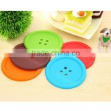 Smart Silicone Coffee Placemat Button Coaster Cup Glass Beverage Holder Pad Mat